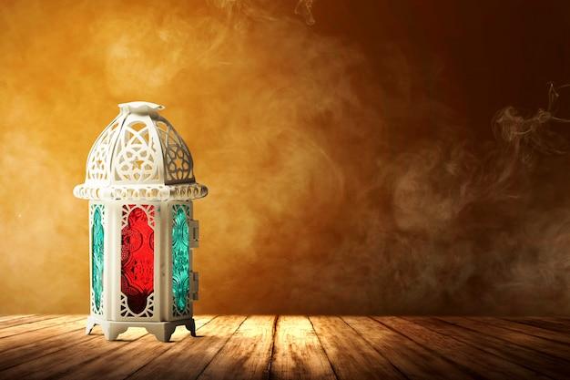 Lampada araba con luce colorata Foto Premium