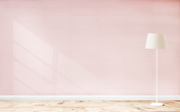 Lampada in piedi in una stanza rosa Foto Gratuite