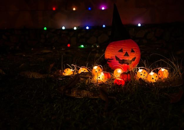 Lanterna Della Presa Della Testa Della Zucca Di Halloween