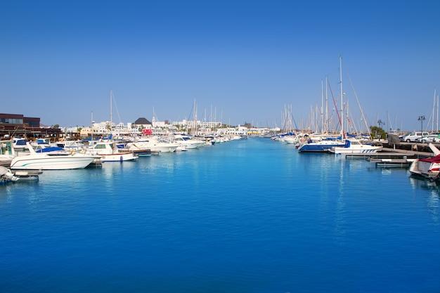 Lanzarote marina rubicon playa blanca Foto Premium