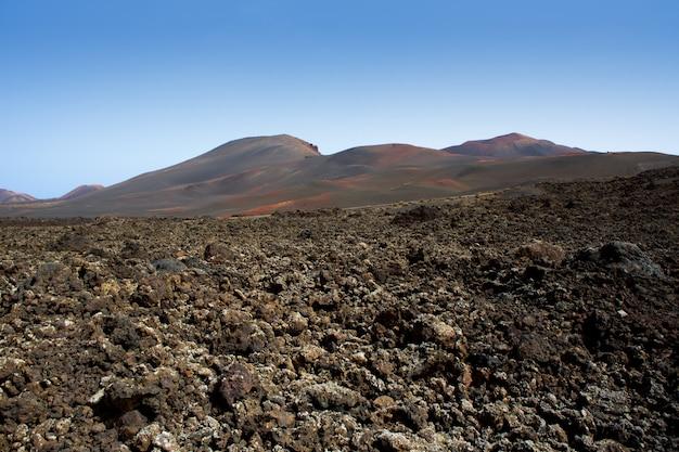Lanzarote timanfaya fire mountains lava vulcanica Foto Premium