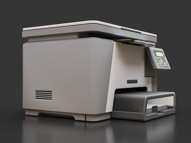 Laser mfp sulla superficie grigia Foto Premium