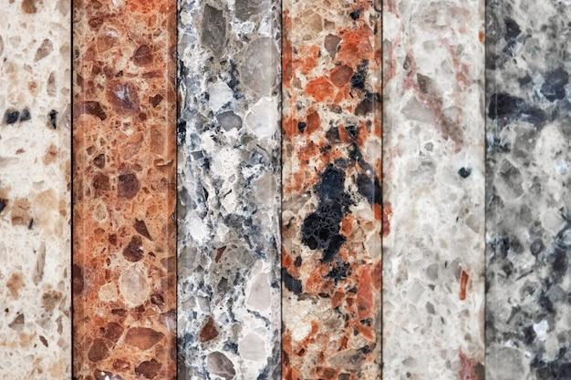 Lastre verticali colorate di marmo Foto Gratuite