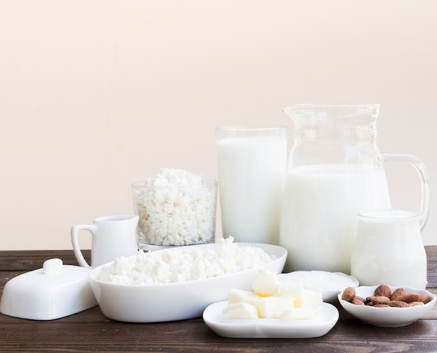 Latte, ricotta e prodotti caseari Foto Gratuite