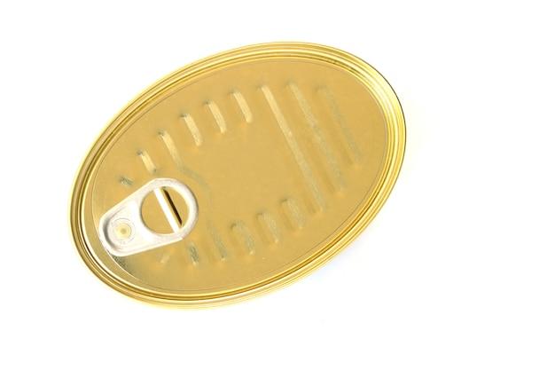Lattina oblunga con tiraggio ad anello. isolato Foto Premium