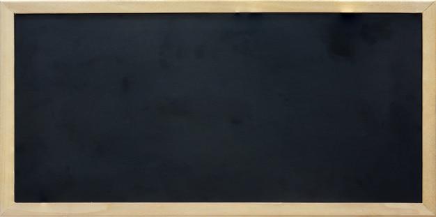 Lavagna di rettangolo vuoto con cornice in legno, copia spazio Foto Premium