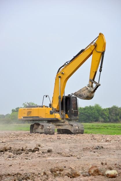 Lavori di scavo in cantiere Foto Premium