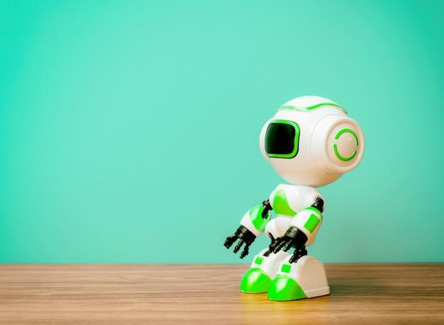 Lavoro di sostituzione umana di tecnologia robot del futuro sfondo vintage Foto Premium