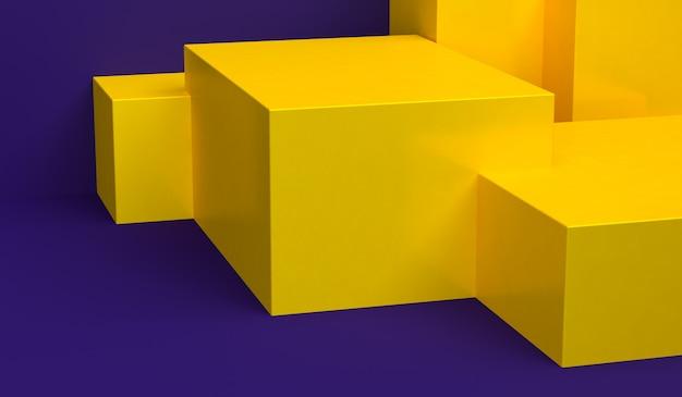 Le figure geometriche primitive astratte minimaliste, i colori pastelli, 3d rendono Foto Premium