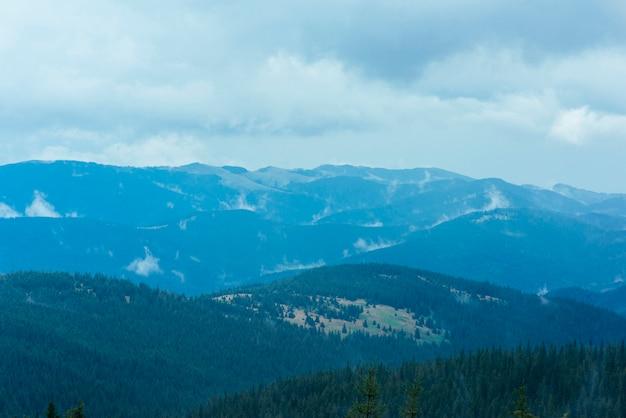 Le pendici delle montagne sono ricoperte da un'abbondante foresta pluviale Foto Gratuite