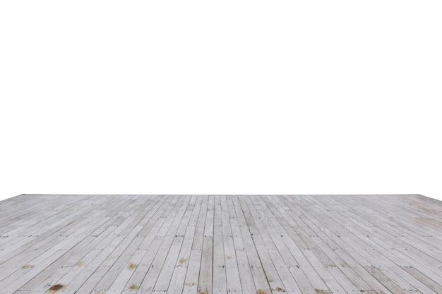 Legno di legno del bacino della baia isolato su bianco Foto Premium