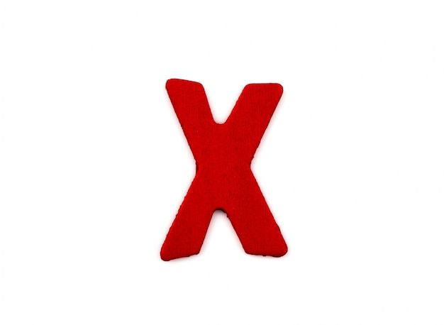 Lettera x in legno Foto Gratuite