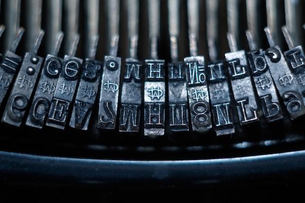 Leve della macchina da scrivere Foto Premium