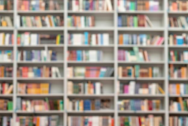 Libreria sfocata per libreria Foto Gratuite