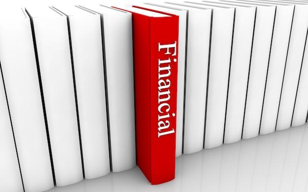 Libro finanziario Foto Premium