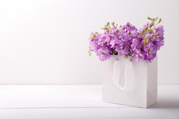 Lilla matthiola fiori Foto Premium