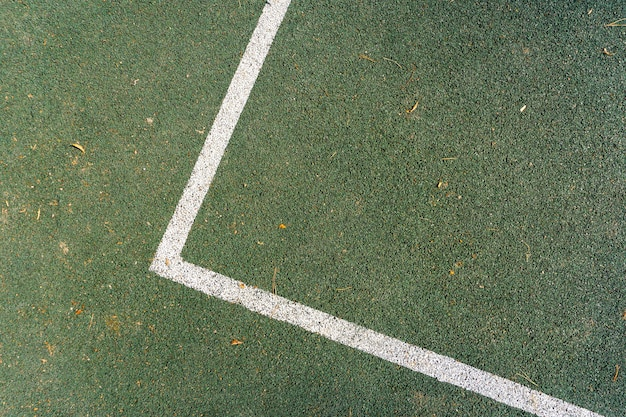 Linea di marcatura del campo da tennis Foto Premium