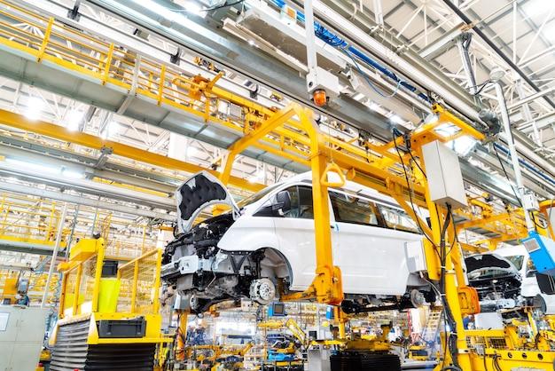 Linea di produzione automobilistica Foto Premium