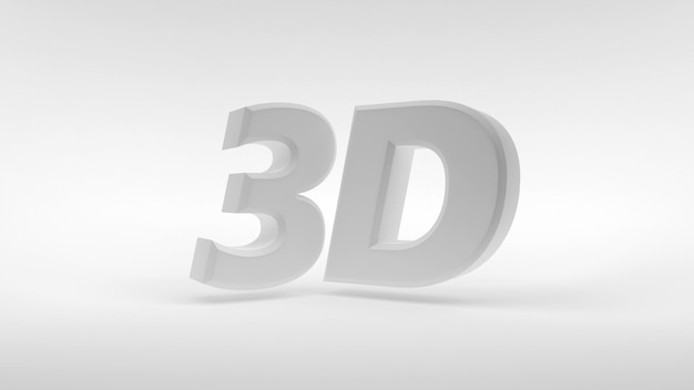 Logo 3d bianco Foto Premium