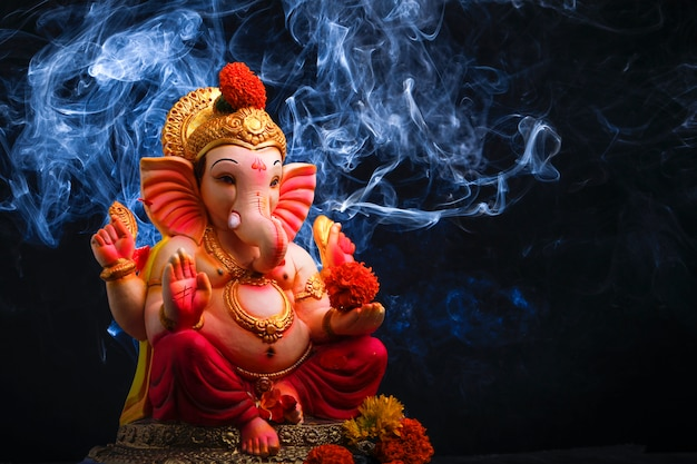 Lord ganesha, festival indiano di ganesh Foto Premium