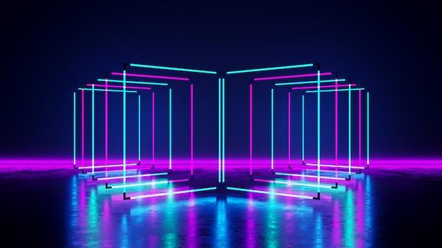 Luce al neon rettangolare Foto Premium