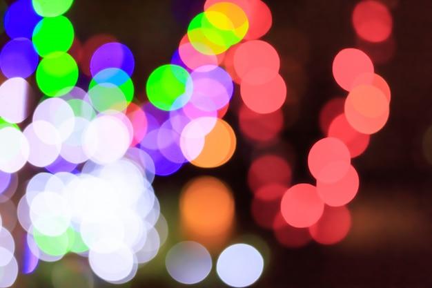 Luce colorata del bokeh Foto Premium