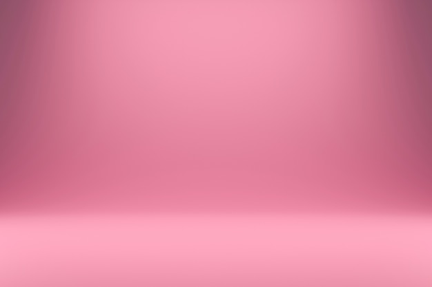 Luce rosa e gradiente astratta con fondali in studio. display vuoto o camera bianca per mostrare il prodotto. rendering 3d realistico. Foto Premium