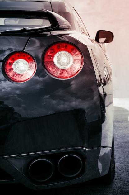 Luci dell'auto posteriore Foto Premium