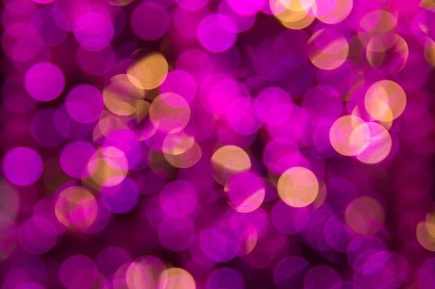 Luci di bokeh astratto rosa. colorato. sfondo sfocato. Foto Premium