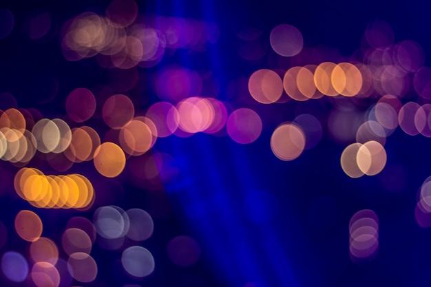 Luci di notte sullo sfondo Foto Premium