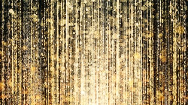 Luci scintillanti d'oro per celebrare e premiare la scena della festa. Foto Premium