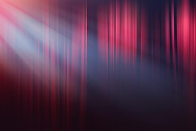 Luci sfocate sul palcoscenico, teatro drammatico spettacolo sullo sfondo Foto Premium