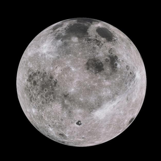 Luna altamente dettagliata nella galassia Foto Premium