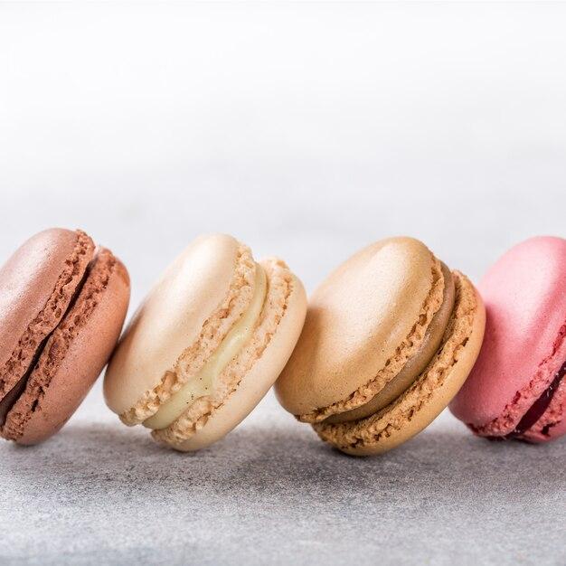 Macarons assortiti francesi Foto Premium