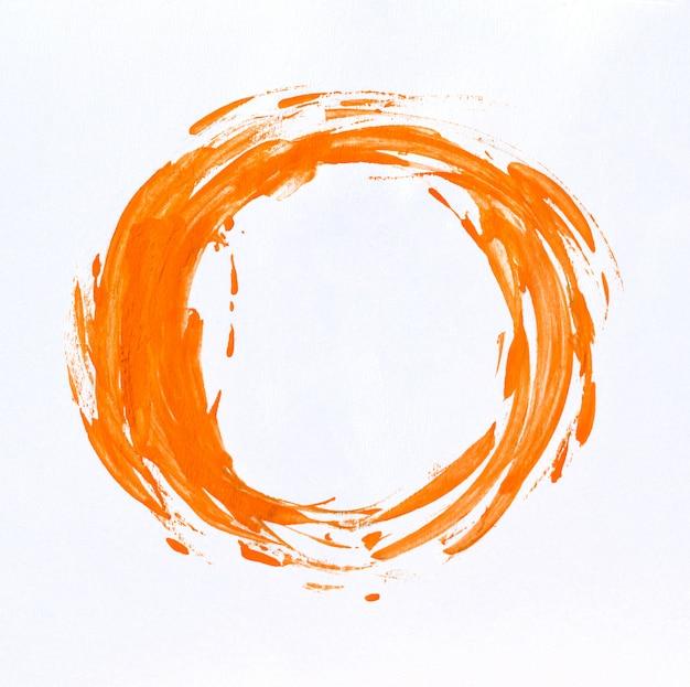 Macchia dell'acquerello con pittura ad acquerello su carta bianca. Foto Premium