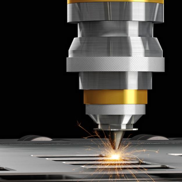 Macchina da taglio laser Foto Premium