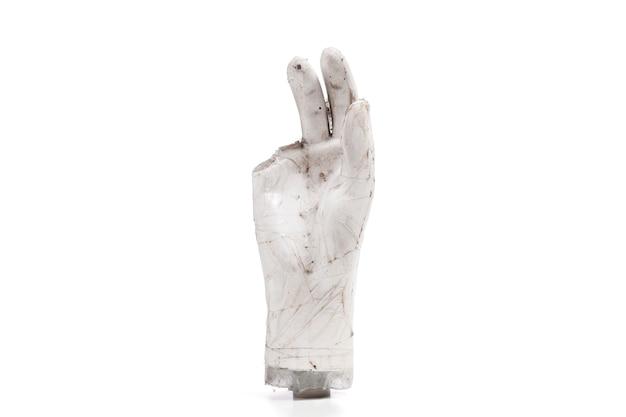 Mani rotte e sporche parte dei burattini Foto Premium