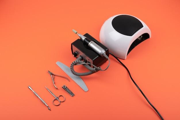Manicure ibrida hardware, set per la cura delle unghie Foto Premium