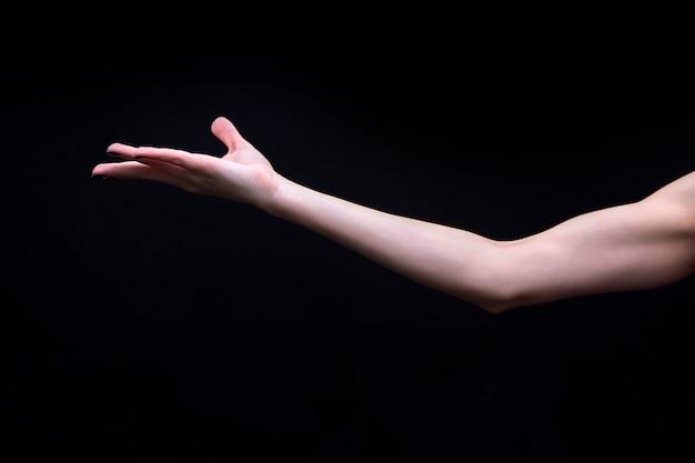 Mano di mudra yoga femminile Foto Premium