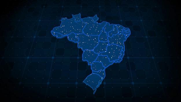 Mappa del brasile Foto Premium