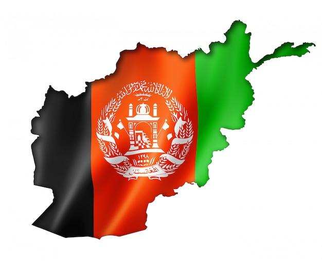 Mappa della bandiera afgana Foto Premium