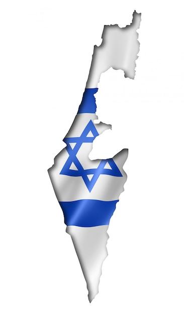 Mappa della bandiera israeliana Foto Premium