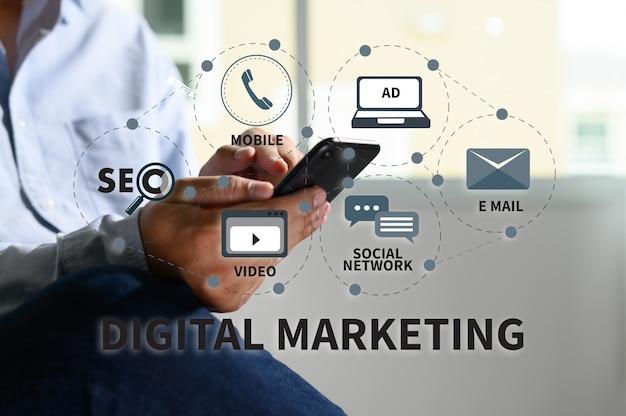 Marketing digitale nuovo progetto di avvio ottimizzazione dei motori di ricerca online Foto Premium