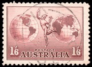 Marrone posta aerea francobollo Foto Gratuite