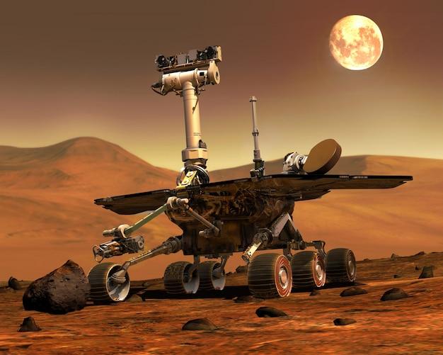 Mars rovers landed.elementi di questa immagine fornita dalla nasa Foto Premium