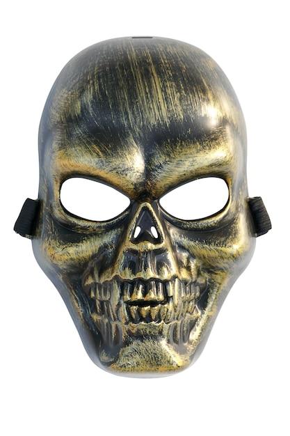 Maschera di cranio isolato su sfondo bianco Foto Premium