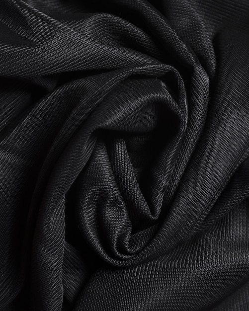 Materiale elegante nero di seta curvy Foto Gratuite