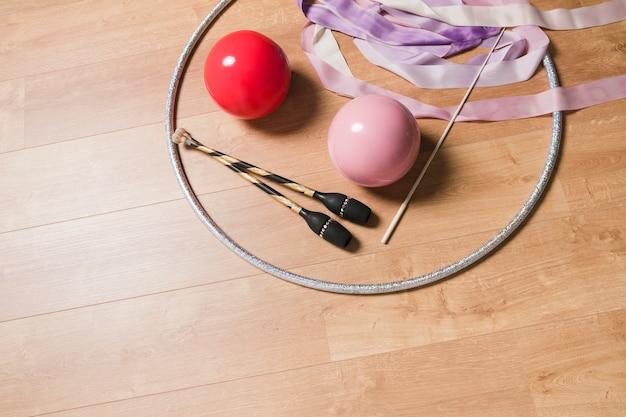 Materiali per ginnastica ritmica Foto Gratuite