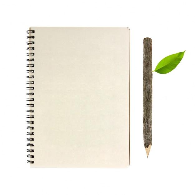 Matita di legno della corteccia promemoria notebook pianura Foto Gratuite