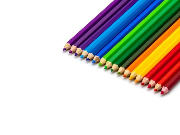 Matite colorate isolate Foto Premium